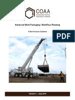 COP-AWP-PBP-01-2016-v1 Advanced Work Packaging Summary