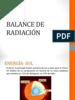 BALANCE DE RADIACIÓN