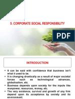 5 Corporate Social Responsibility