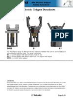 Data Sheet del Instrumento de Agarre del Robot