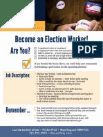 Louisiana Election Worker Application - LA Secretary of State Kyle Ardoin