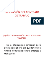 10-CLASE-SUSPENSIÓN DEL CONTRATO DE TRABAJO