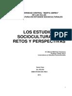 LOS ESTUDIOS SOCIOCULTURALES