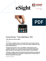 HindeSight Investor Letter Jan 2011 Nessun Dorma None Shall Sleep