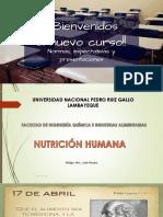 SEMANA 1 NUTRICIÓN HUMANA