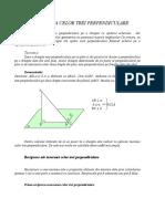 Teorema celor trei perpendiculare