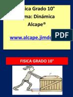 Guía de Trabajo Física Grado 10°  Dinámica ( Fuerzas )