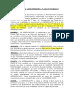 CONTRATO DE ARRENDAMIENTO A PLAZO DETERMINADO - casa habitacional