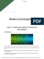 Aula 2 Codicação digital e Teorema da amostragem
