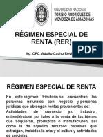 CLASE DE RÉGIMEN ESPECIAL DE RENTA - RER