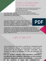 EVOLUCION DE LA LEGISLACION AMBIENTAL EN COLOMBIA