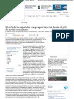El 20% de los españoles compra por Internet, frente al 32% de media comunitaria · ELPAÍS