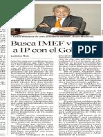 28.05.2013 Busca IMEF vincular a IP con el Gobierno