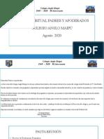 REUNIÓN VIRTUAL APODERADOS_E. Media_ Julio 2020-2
