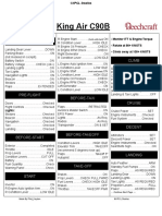 KingAir C90B Checklist