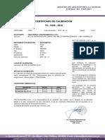 certificado de calibracion meghometro
