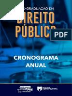CRONOGRAMA POS-GRADUACAO EM DIREITO PUBLICO