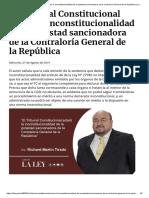 El Tribunal Constitucional aclaró la inconstitucionalidad de la potestad sancionadora de la Contraloría General de la República _ La Ley - El Ángulo Legal de la Noticia