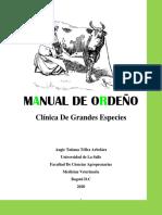 MANUAL DE ORDEÑO