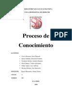 EL PROCESO DE CONOCIMIENTO - contenido - GRUPO 1