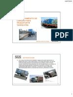 Aseguramiento de cargas para transporte terrestre