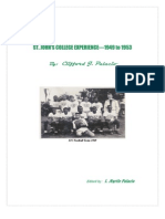 Experiences at SJC Under the Jesuits 1949 to 1953
