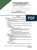 EVALUACION 5ta ESTADISTICA I CA 05 18 2T REGRESION Y CORRELACION