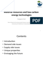 Material resources and low carbon energy technologies