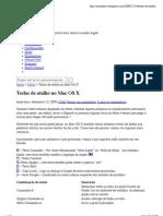 Teclas de atalho no Mac OS X « MacSaber
