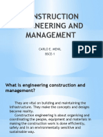 COSTRUCTION ENGINEERING AND MANAGEMENT
