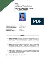 Elena Barros Hoja de vida #1