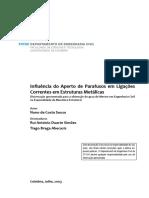 Influencia Do Aperto de Parafusos Em Ligacoes Correntes Em Estruturas Metalicas