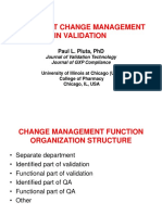 Implement Change Management in Validation