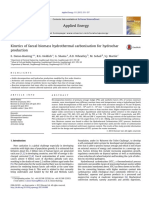 Kinetics of faecal biomass hydrothermal carbonisation for hydrochar