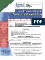 Late Prematurity Speaker Flyer