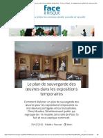 Le plan de sauvegarde des œuvres dans les expositions temporaires - Face au Risque - le magazine pour piloter les missions sûreté, incendie et sécurité
