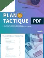 Linkedin plan tactique