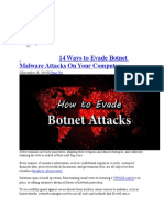 14 Ways to Evade Botnet Malware Attacks On Your Computers (Recovered)