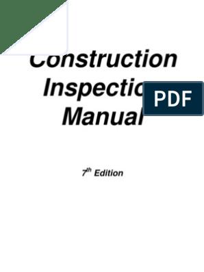 Construction Inspection Manual   Architect   Employment