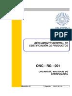 ONC-RG-001_Reglamento_General_de_Certificacion_de_Productos._Rev_01._2