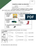 evaluación diagnóstica de unidad de los materiales