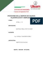 2 Funciones de gestion de calidad Planificacion y Despliegue - copia