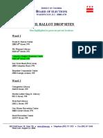 Mail Ballot Drop Sites 11-3-2020