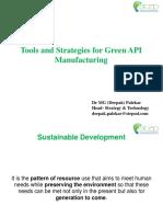 Tools and Strategies for Green API by Dr. M G (Deepak) Palekar