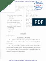 Acusacion de María Milagros Charbonier FBI