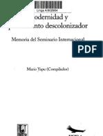 memorias seminario descolonización