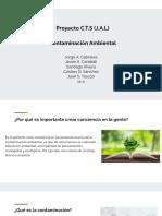 Proyecto C.T.S (J.a.L) Contaminación Ambiental