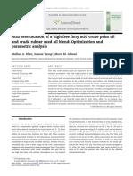 Acid esterification of a high free fatty acid crude palm oil
