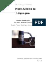 Restrição Jurídica da Linguagem