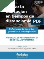 Molina Derteano (2020) La virtualización en la docencia universitaria REV
